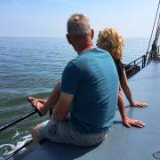 navegar a lo largo de terschelling vlieland
